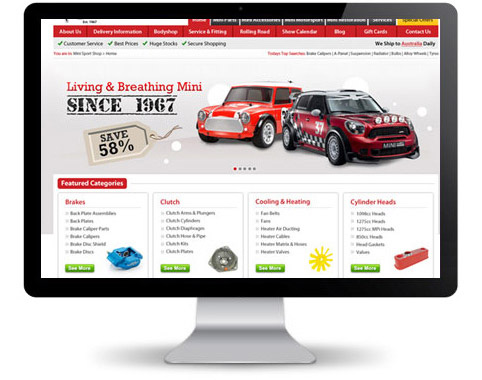 Ecommerce Site Using Magento