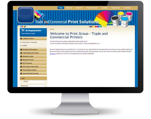 Website For Trade And Commercial Print Solutions – Built Using Magento