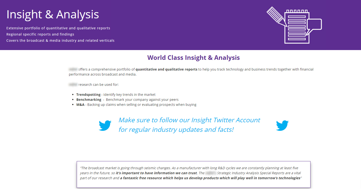 Insight and Analysis